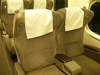 N700系グリーン席シート